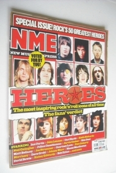 NME magazine - Rock's 50 greatest heroes cover (13 May 2006)