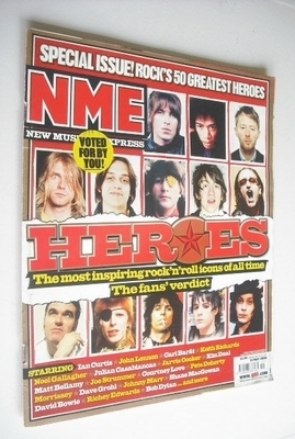 <!--2006-05-13-->NME magazine - Rock's 50 greatest heroes cover (13 May 200