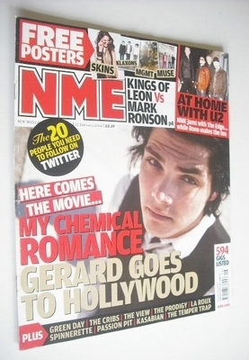 <!--2009-02-21-->NME magazine - Gerard Way cover (21 February 2009)