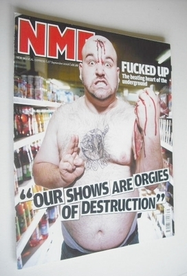 <!--2008-09-27-->NME magazine - F*cked up cover (27 September 2008)