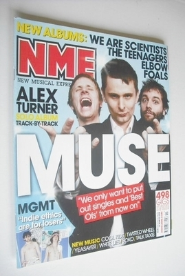 <!--2008-03-15-->NME magazine - Muse cover (15 March 2008)