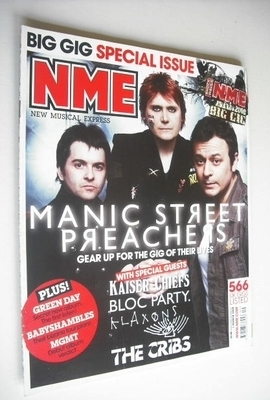 <!--2008-03-01-->NME magazine - Manic Street Preachers cover (1 March 2008)