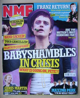 <!--2005-07-23-->NME magazine - Pete Doherty cover (23 July 2005)