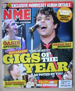 <!--2005-11-19-->NME magazine - Billie Joe Armstrong cover (19 November 200