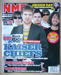<!--2005-10-22-->NME magazine - Kaiser Chiefs cover (22 October 2005)