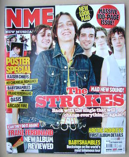 NME magazine - The Strokes cover (1 October 2005)