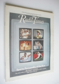 Radio Times magazine - Sports Personality Of The Year cover (11-17 December 1982)