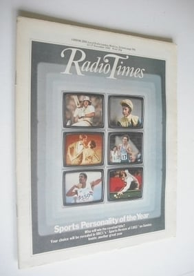<!--1982-12-11-->Radio Times magazine - Sports Personality Of The Year cove