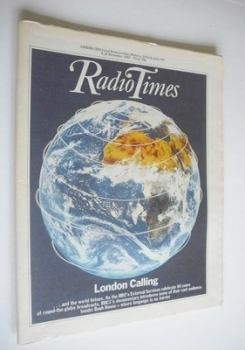 Radio Times magazine - London Calling cover (4-10 December 1982)