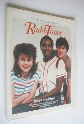 <!--1982-11-27-->Radio Times magazine - Three Of A Kind cover (27 November