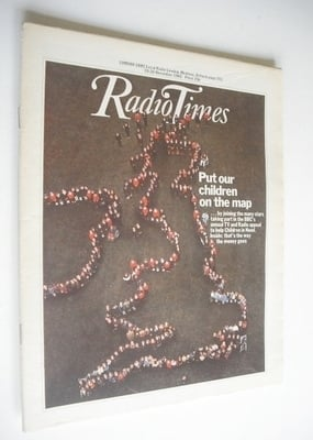<!--1982-11-20-->Radio Times magazine - Put Our Children On The Map cover (