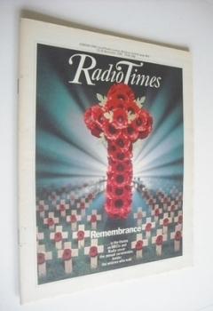 Radio Times magazine - Remembrance cover (13-19 November 1982)