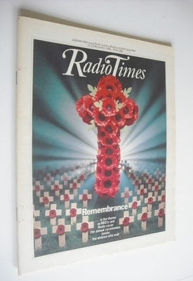 <!--1982-11-13-->Radio Times magazine - Remembrance cover (13-19 November 1