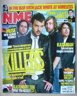 <!--2006-07-01-->NME magazine - The Killers cover (1 July 2006)