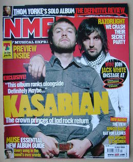 <!--2006-07-08-->NME magazine - Kasabian cover (8 July 2006)
