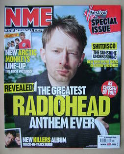 <!--2006-08-19-->NME magazine - Thom Yorke cover (19 August 2006)