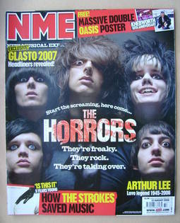 <!--2006-08-12-->NME magazine - The Horrors cover (12 August 2006)