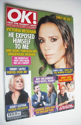 <!--2012-10-23-->OK! magazine - Victoria Beckham cover (23 October 2012 - I
