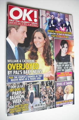 <!--2012-10-16-->OK! magazine - Kate Middleton and Prince William cover (16
