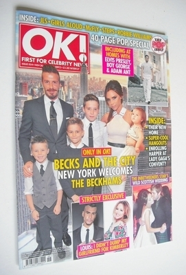 <!--2012-11-20-->OK! magazine - The Beckhams cover (20 November 2012 - Issu