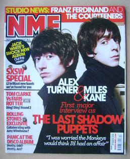 <!--2008-03-29-->NME magazine - Alex Turner and Miles Kane cover (29 March