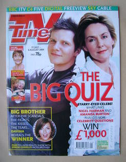 <!--2004-07-31-->TV Times magazine - Nigel Harman and Amanda Burton cover (