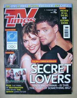 <!--2004-08-07-->TV Times magazine - Kate Ford and Keith Duffy cover (7-13