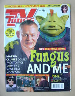 <!--2004-11-27-->TV Times magazine - Martin Clunes cover (27 November-3 Dec