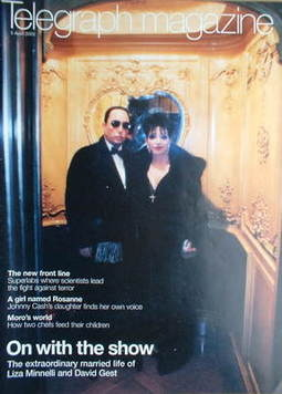 <!--2003-04-05-->Telegraph magazine - Liza Minnelli and David Gest cover (5