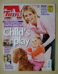 <!--2002-07-06-->TV Times magazine - Ulrika Jonsson cover (6-12 July 2002)