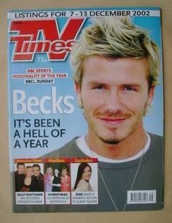 <!--2002-12-07-->TV Times magazine - David Beckham cover (7-13 December 200