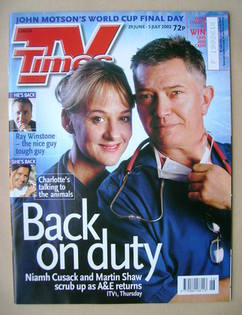 <!--2002-06-29-->TV Times magazine - Niamh Cusack and Martin Shaw cover (29