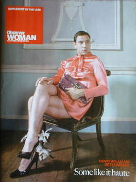Observer Woman magazine - David Walliams cover (October 2008 - No 34)