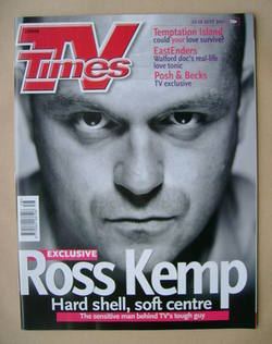 <!--2001-09-22-->TV Times magazine - Ross Kemp cover (22-28 September 2001)