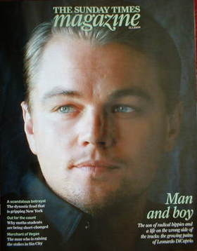 <!--2009-01-11-->The Sunday Times magazine - Leonardo DiCaprio cover (11 Ja