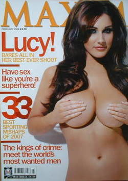 <!--2008-02-->MAXIM magazine - Lucy Pinder cover (February 2008)