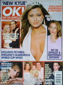 <!--2002-05-16-->OK! magazine - Holly Valance cover (16 May 2002 - Issue 31
