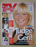 <!--2002-09-07-->TV Times magazine - Geri Halliwell cover (7-13 September 2002)