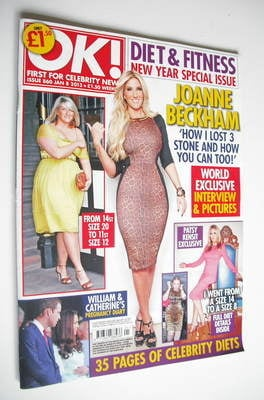 <!--2013-01-08-->OK! magazine - Joanne Beckham cover (8 January 2013 - Issu