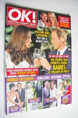 <!--2012-09-25-->OK! magazine - Kate Middleton and Prince William cover (25