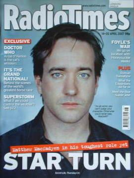 <!--2007-04-14-->Radio Times magazine - Matthew Macfadyen cover (14-20 Apri
