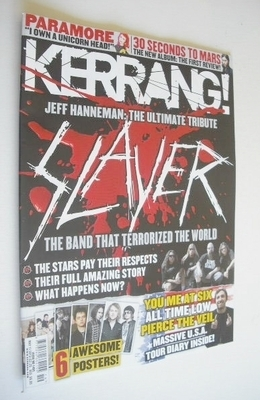 <!--2013-05-11-->Kerrang magazine - Slayer cover (11 May 2013 - Issue 1465)