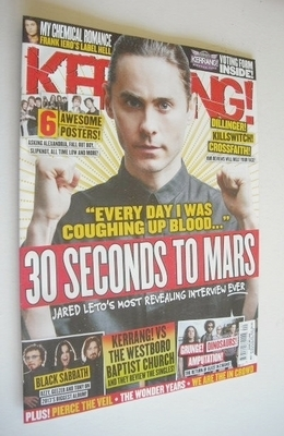 <!--2013-05-18-->Kerrang magazine - 30 Seconds To Mars cover (18 May 2013 -