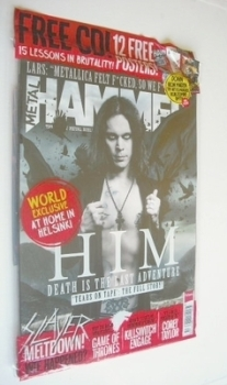 Metal Hammer magazine - HIM Ville Valo cover (May 2013)