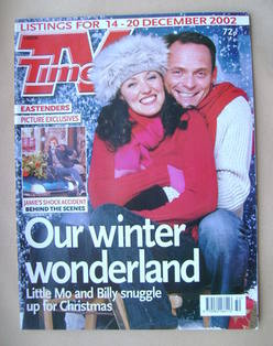 <!--2002-12-14-->TV Times magazine - Kacey Ainsworth and Perry Fenwick cove