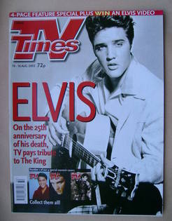 TV Times magazine - Elvis Presley cover (10-16 August 2002)