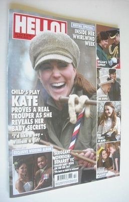 <!--2013-04-01-->Hello! magazine - Kate Middleton cover (1 April 2013 - Iss