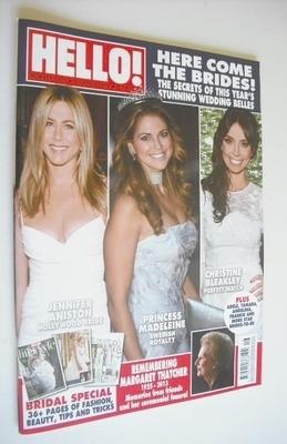<!--2013-04-22-->Hello! magazine - Here Come The Brides cover (22 April 201