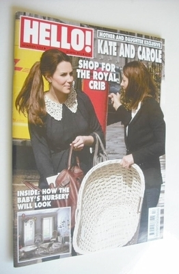 <!--2013-04-29-->Hello! magazine - Kate Middleton cover (29 April 2013 - Is