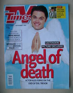 <!--2002-10-26-->TV Times magazine - Alex Ferns cover (26 October-1 Novembe
